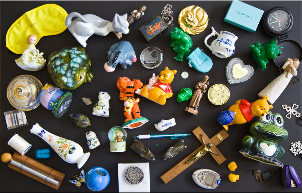 17.Collage of collectibles